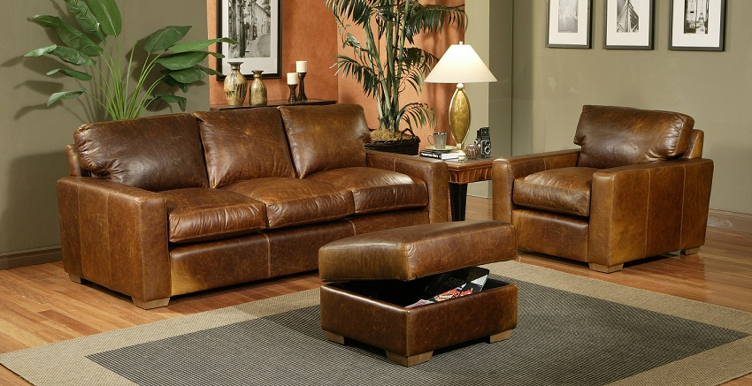 City Craft Leather Sofa