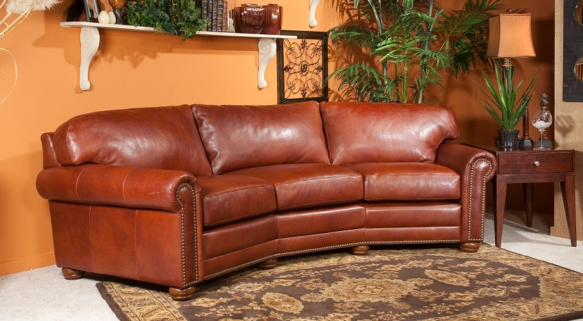 Dominion Leather Conversation Sofa