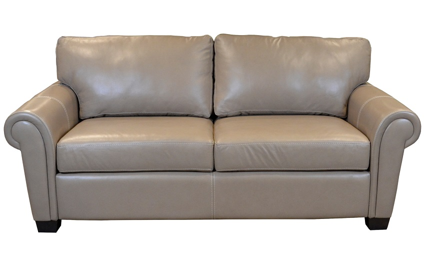 Kent Queen Size Leather Sleeper Sofa With Gel Mattress