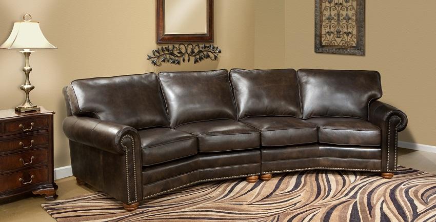 Conversation Sofas Kingsbury Leather Conversation Sofa