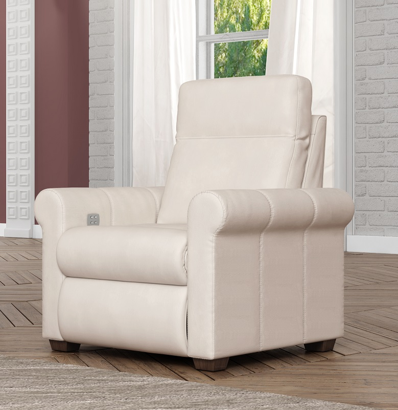 Aldean Leather Power Recliner With Articulating Headrest