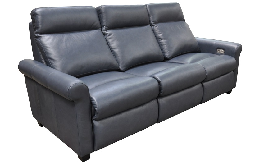 Aldean Leather Power Reclining Sofa With Articulating Headrest