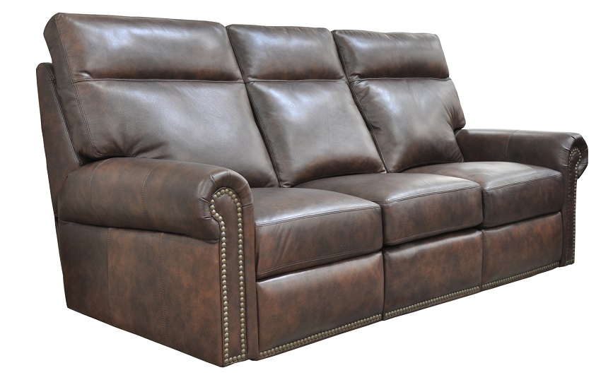 Campbell Leather Full Size Sofa Sleeper