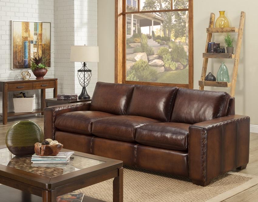 Colorado Leather Queen Size Sofa Sleeper