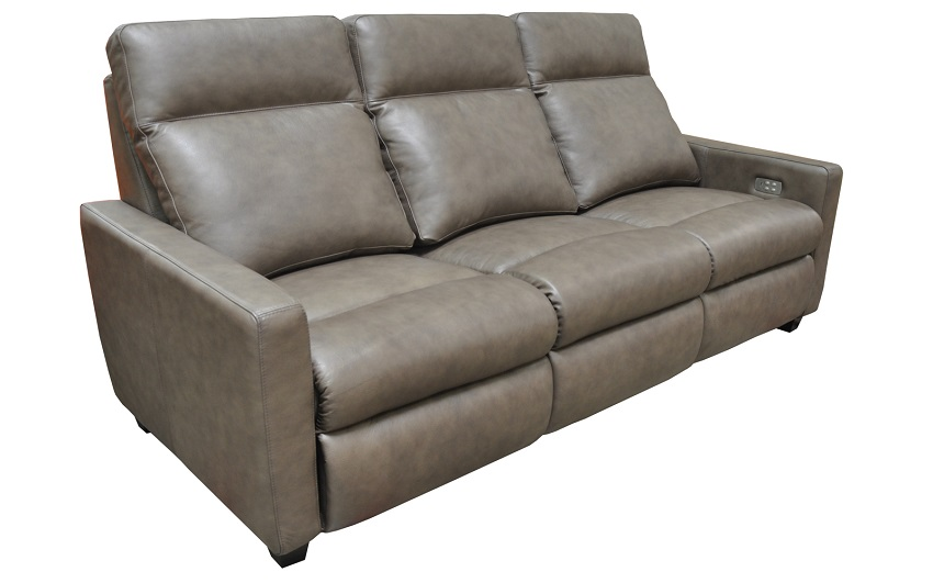 Legacy Leather Power Reclining Sofa With Articulating Headrest