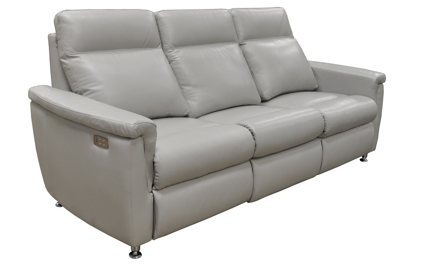 Luxtan Leather Power Reclining Sofa With Articulating Headrest