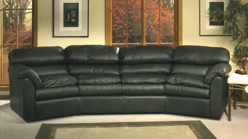 Phoenix Leather Four Cushion Conversation Sofa