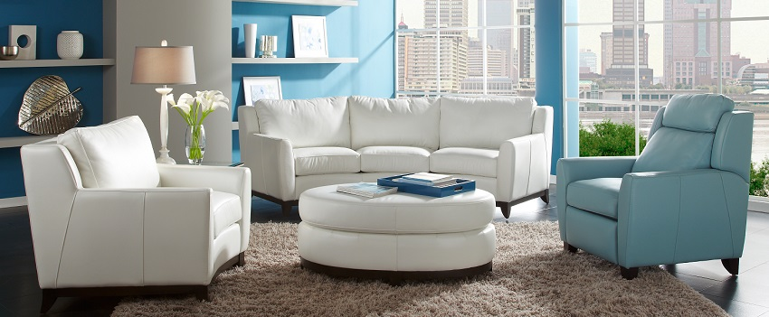 Pisa Leather Conversation Sofa