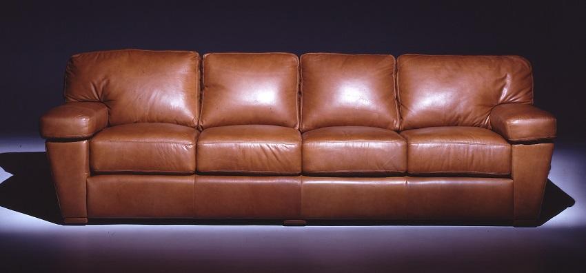 Leather Sofas: Prescott Leather Four Cushion Sofa