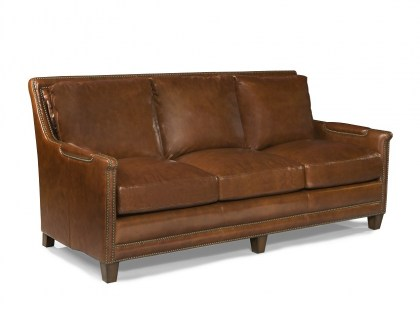 Piper Leather Sofa in Saddle