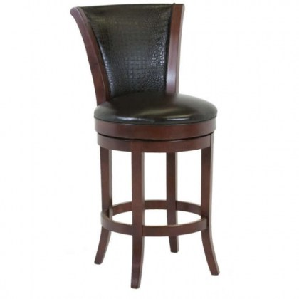 Mayfield Leather Swivel Bar Stool