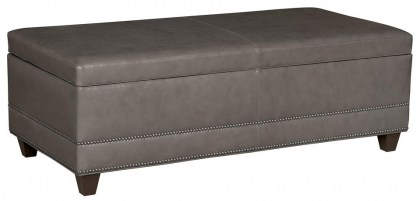 Lillian Leather Storage Bench