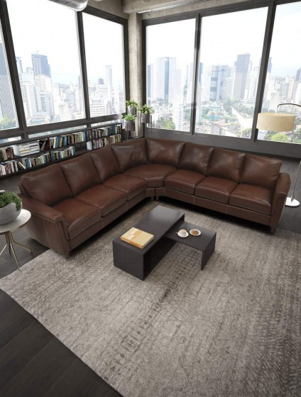 Ellie Leather Sectional