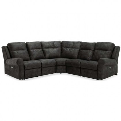 Vega Power Reclining Sectional With Power Headrest