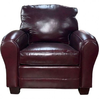 Red Leather Chair - Clearance