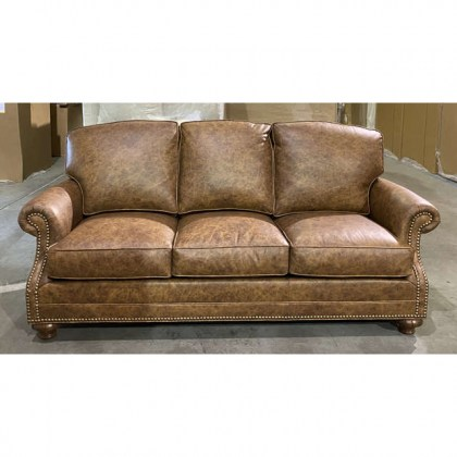 American Made Leather Sofa - Clearance Leather Furniture