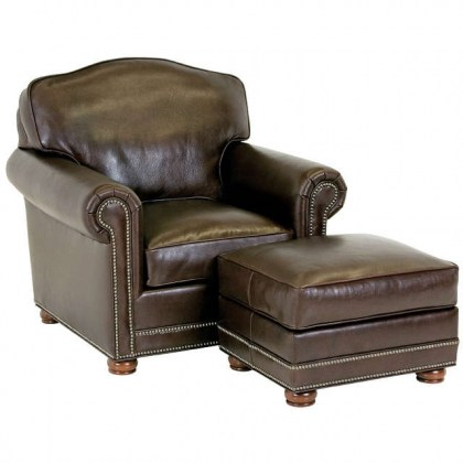 Ellison Leather Chair - Brown Leather Chair