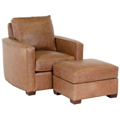Forks Leather Lounge Chair