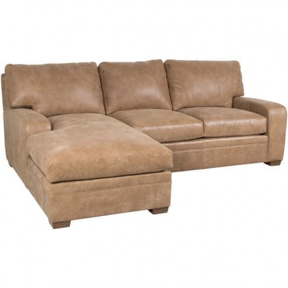 Mason Leather Sofa With Chaise
