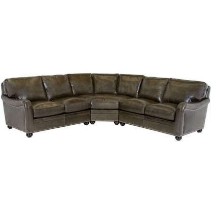 Heron Leather Sectional - American Made