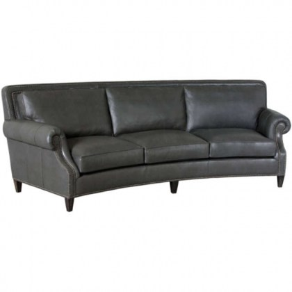 Grey Leather Conversation Sofa
