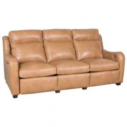 Penelope Leather Power Inclining Sofa