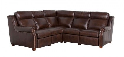 Power Inclining Leather Sectional