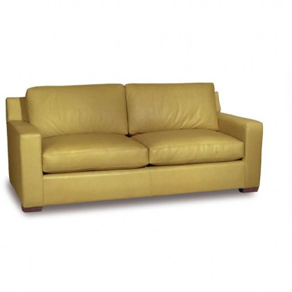Jennifer Leather Two Cushion Sofa