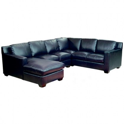 Caribou Leather Sectional - Made in the USA