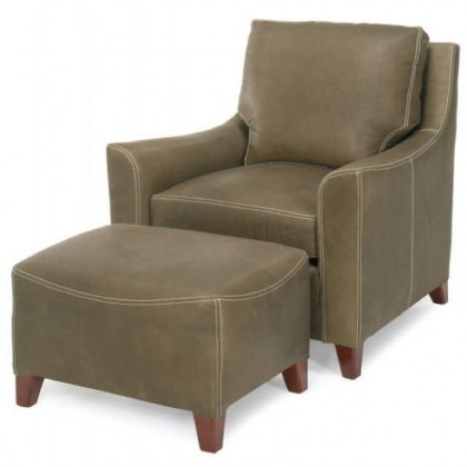Breckenridge Leather Chair and Ottoman