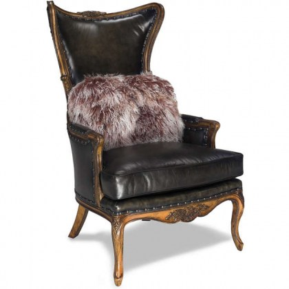High End Leather Accent Chair
