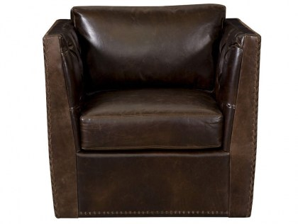 Remy Leather Swivel Chair