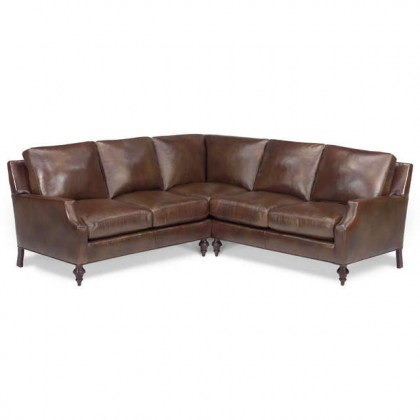 York Leather Sectional