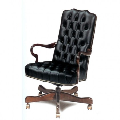 Sycamore Leather Desk Chair