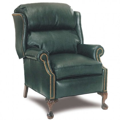 Ball in Claw Leather Recliner