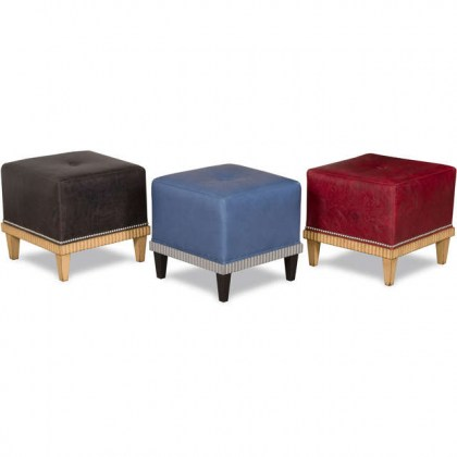 Brookline Leather Stool