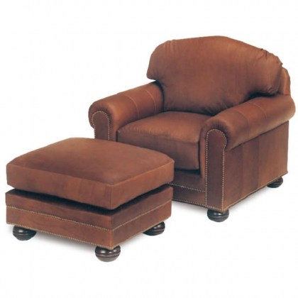 Hadlock Leather Chair and ottoman