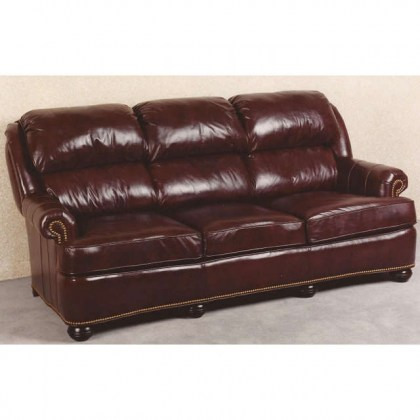 Pillow Back Leather Sofa