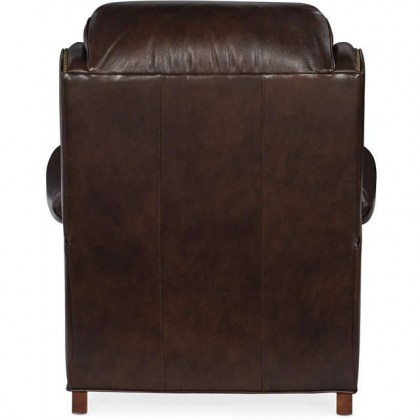 Taylor Leather Tilt Back Chair and Ottoman