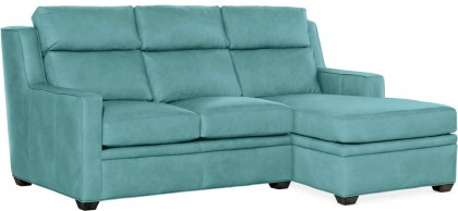 Raymond Leather Power Reclining Sofa With Chaise