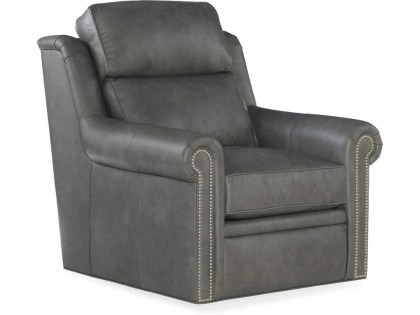 Reece Leather Swivel Chair