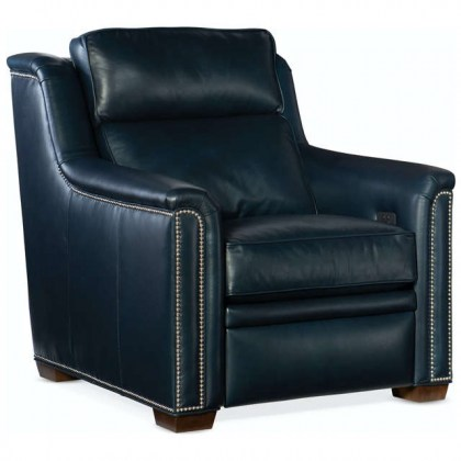 Raiden Leather Power Recliner With Adjustable Headrest