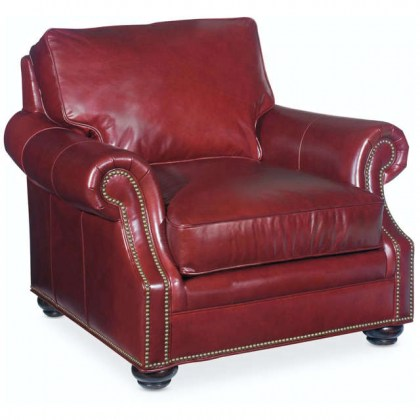 Warner Leather Chair and Ottoman