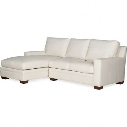 Hanley Leather Sofa With Chaise