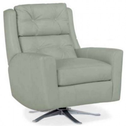 American Made Leather Swivel Chair