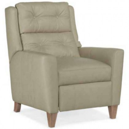 Button Tufted Leather Recliner