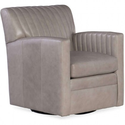 Barnabus Leather Swivel Chair
