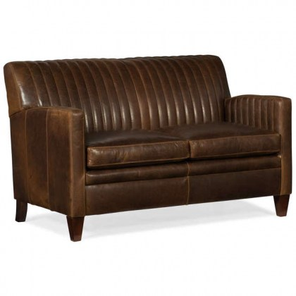 Barnabus Leather Loveseat