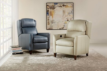 Samuel Leather Power Reclining with Adjustable Headrest