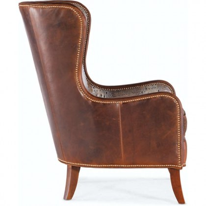Aurora Leather Accent Chair